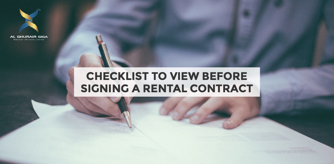 Checklist to View before Signing a Rental Contract