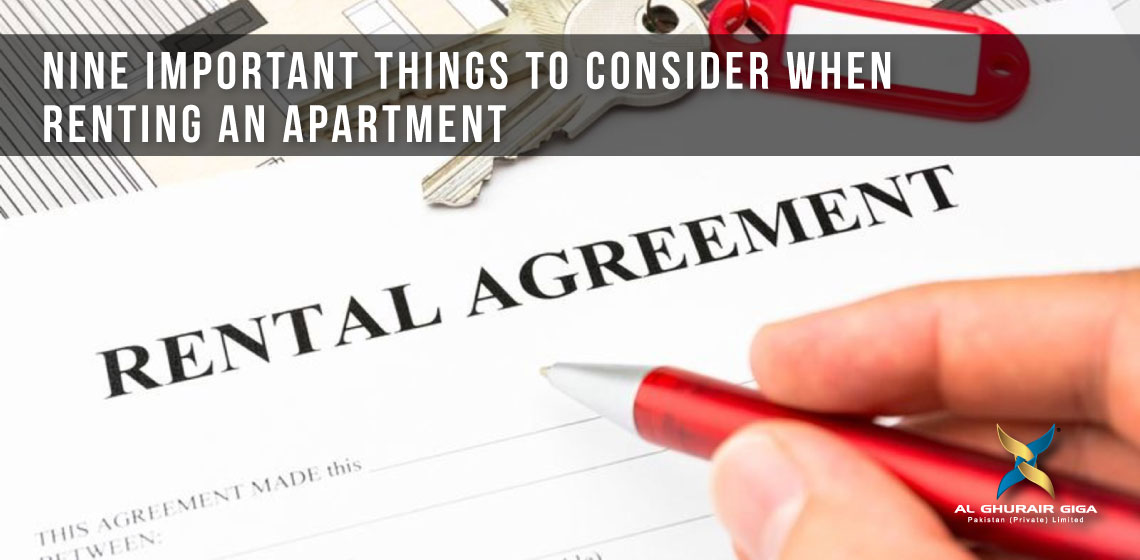 Nine Important Things to Consider When Renting an Apartment